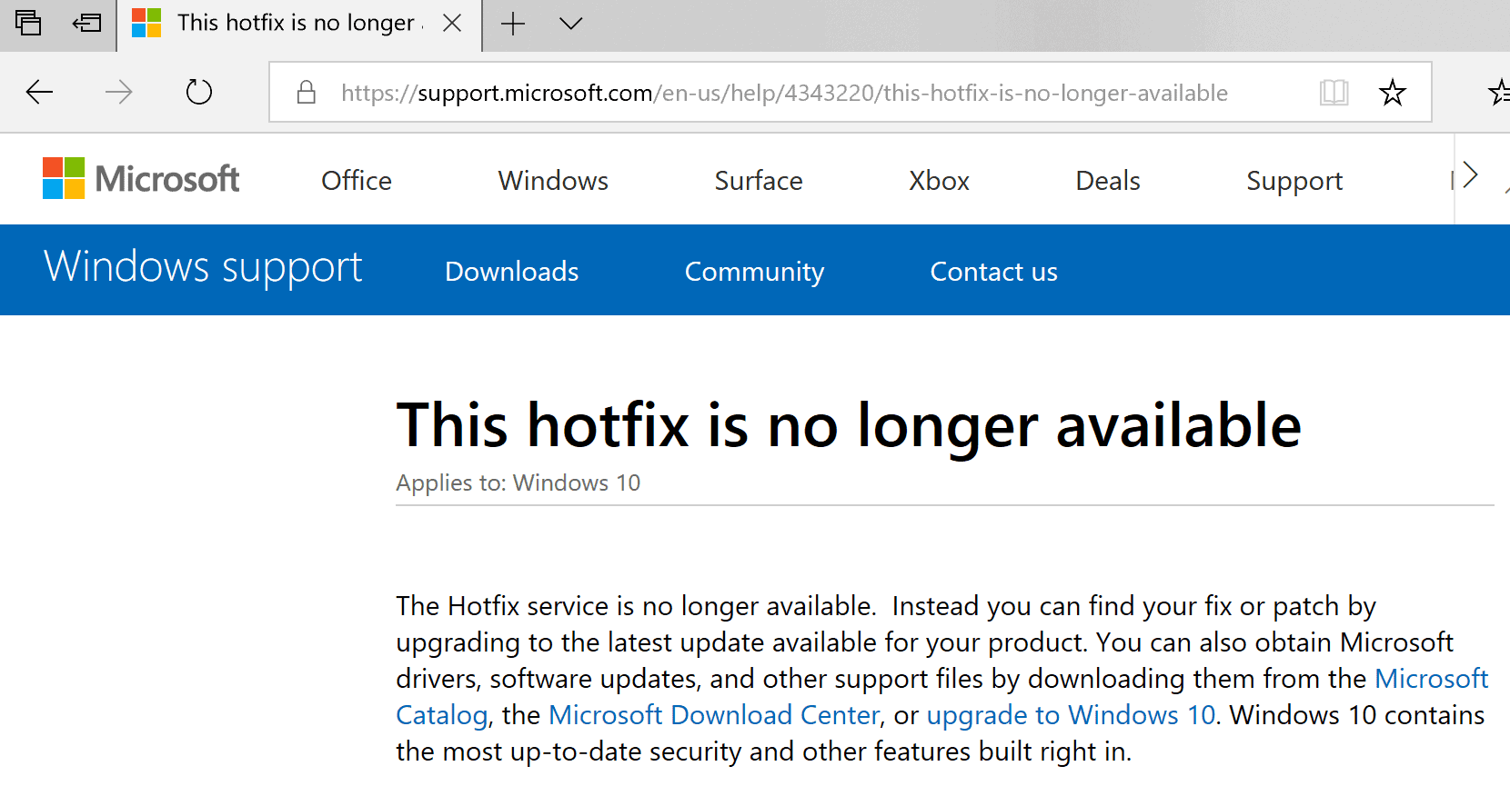 Microsoft's Hotfix service is no longer available - gHacks