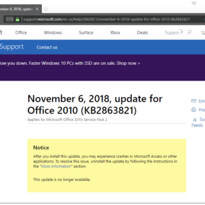 microsoft office 2010 pulled updates