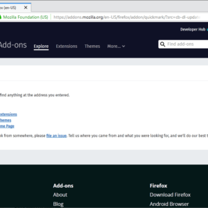 mozilla firefox classic extensions gone