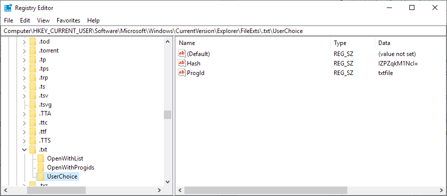 registry remove