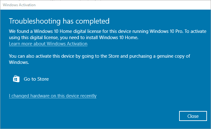 windows activation issue