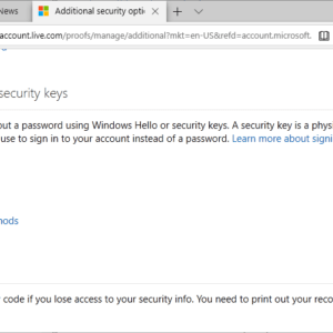windows hello security keys sign-in setup