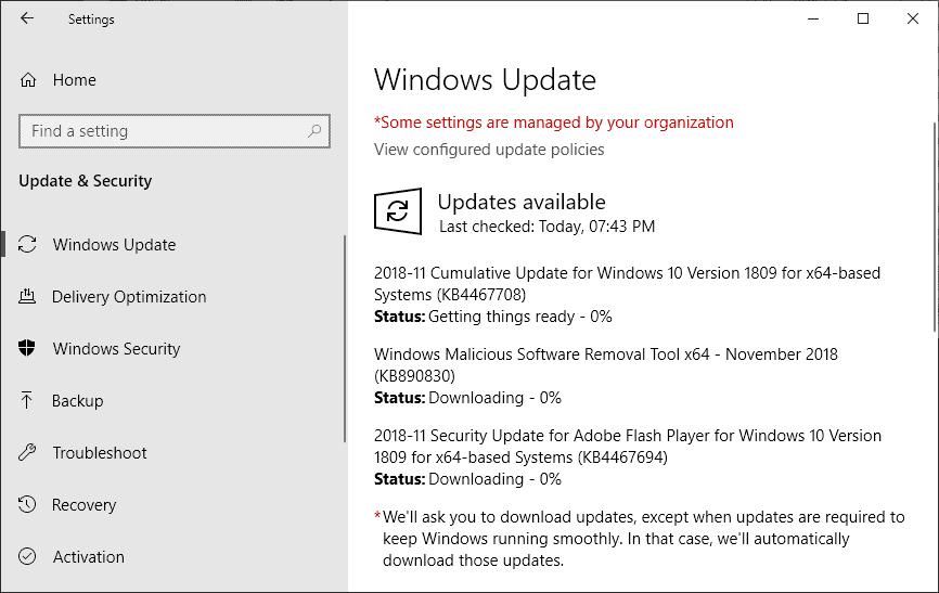 windows security updates november 2018