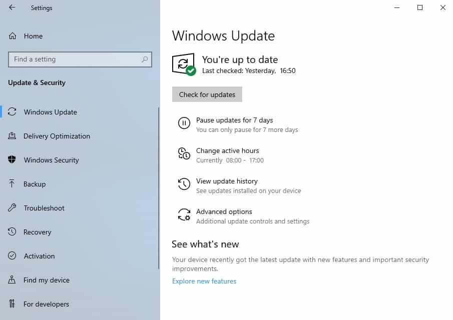 windows update improvements 1903