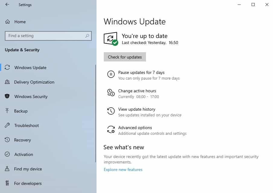 windows update improvements 1903