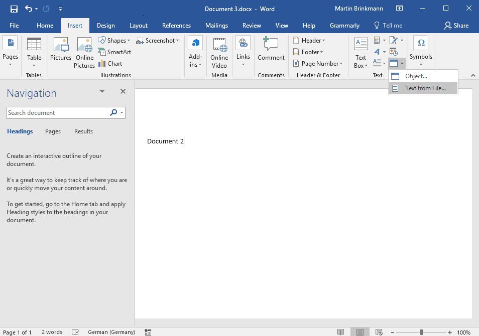 word merge documents