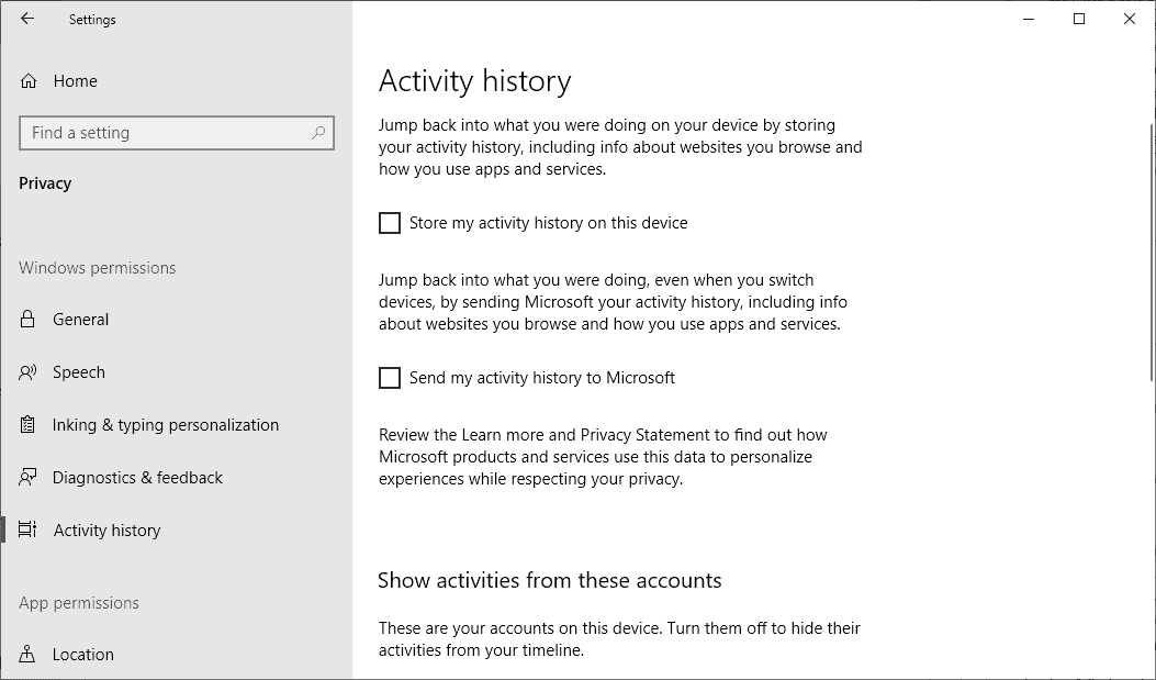 Windows 10: Activity may be recorded even if you disable it