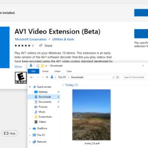 avif image windows 10