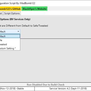 black viper service configuration