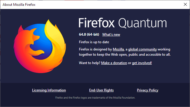 Firefox 64 0 Release Information - gHacks Tech News