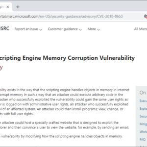 internet explorer vulnerability KB4483187