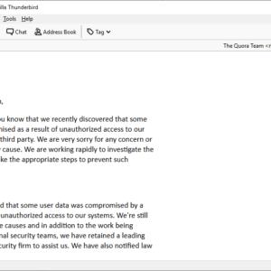 quora security update