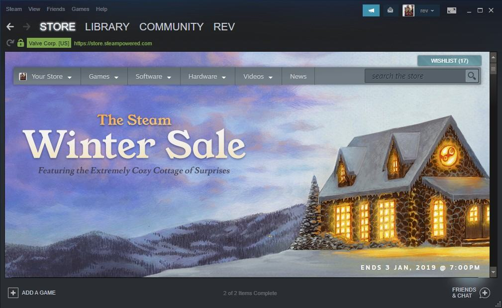 the steam winter sale 2018 has started ghacks tech news. Black Bedroom Furniture Sets. Home Design Ideas