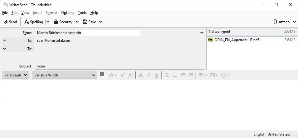 virustotal scan email