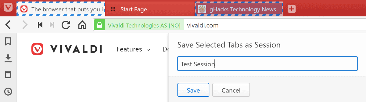 vivaldi save sessions