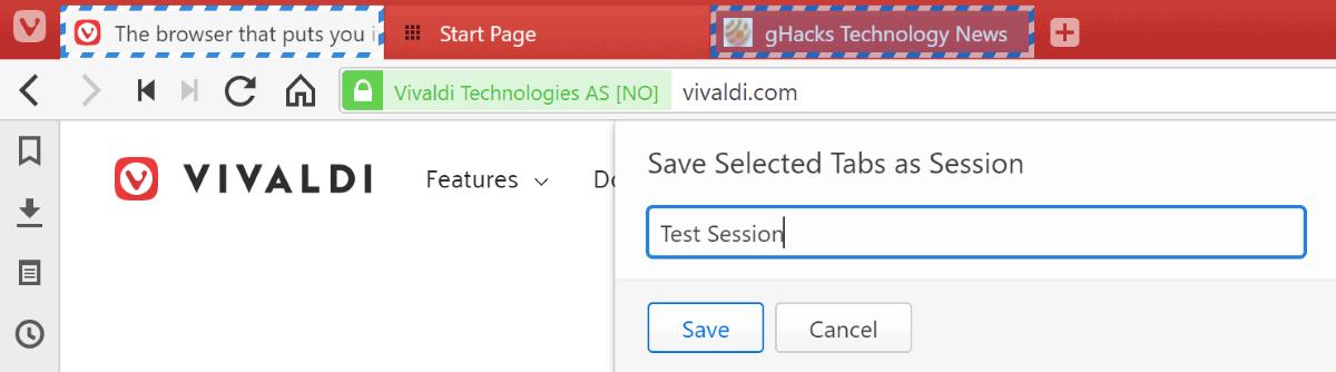 vivaldi save sessions