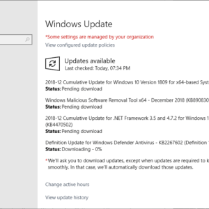 windows updates 2018 december