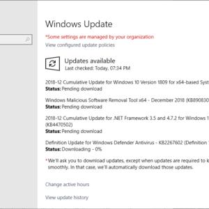 windows updates 2018 december