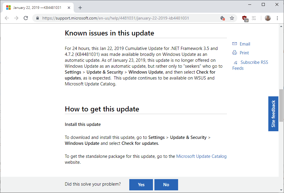 Microsoft confirms it distributed KB4481031 in error - gHacks Tech News