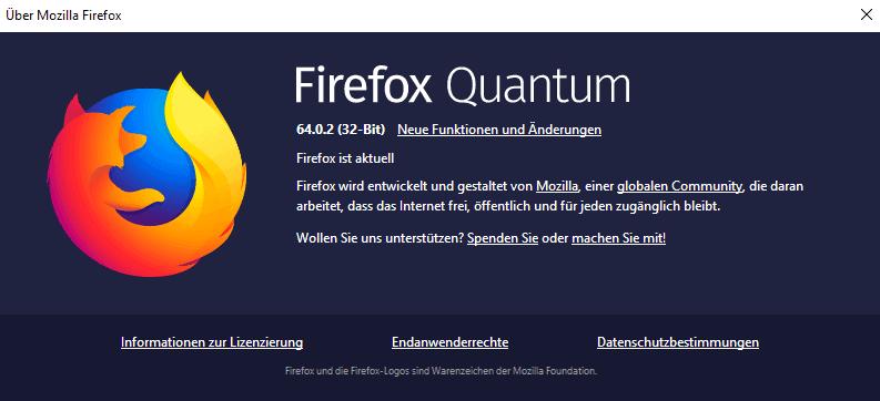 firefox 64.0.2