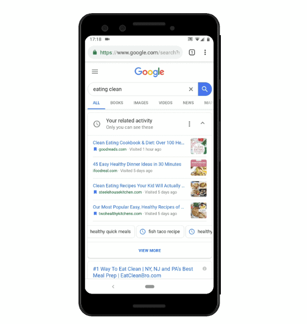 Google Launches Your Related Activity Mobile Search Feature Ghacks Tech News