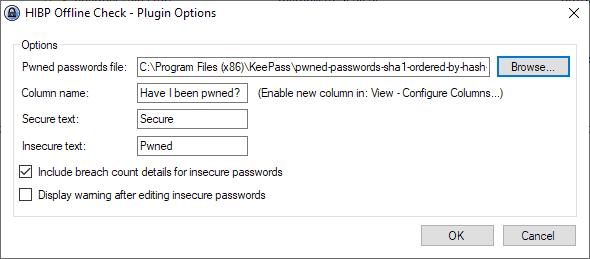 keepass password security check
