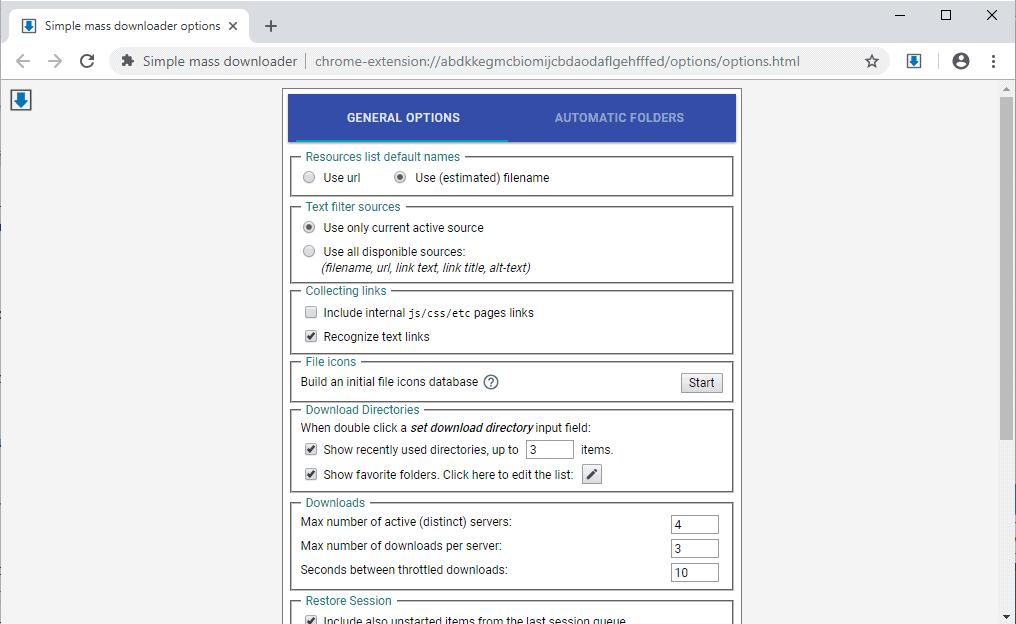 mass downloader options