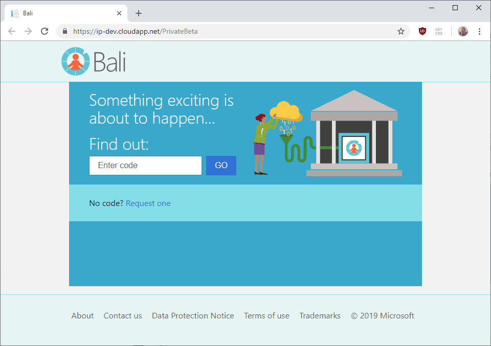 What is Microsoft's Project Bali?