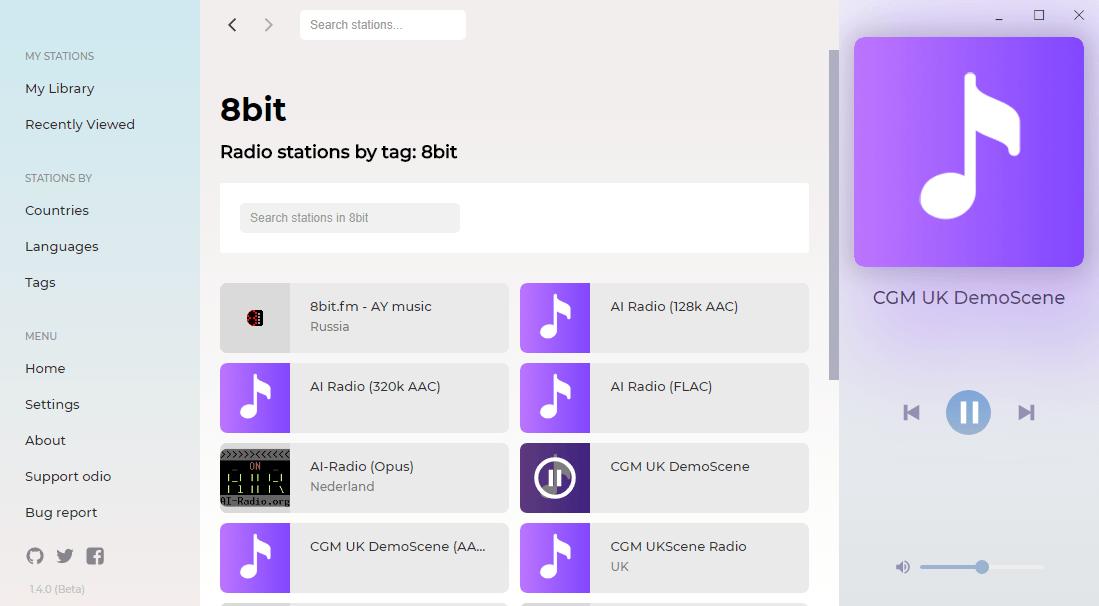 odio radio playback