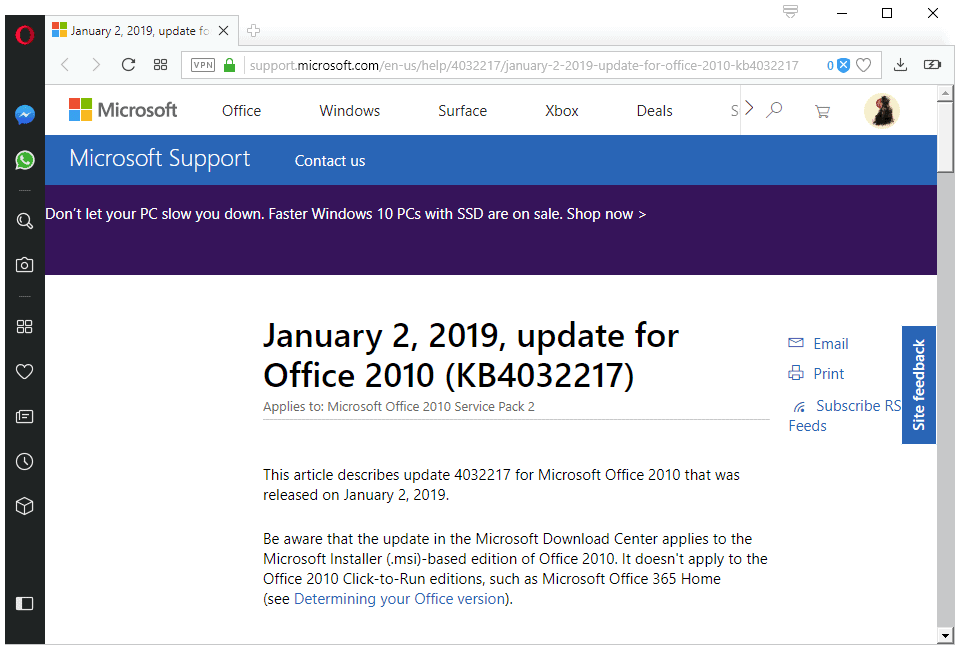 Microsoft releases Office January 2019 non-security updates - gHacks