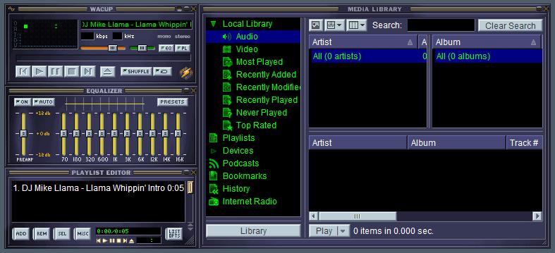 wacup winamp audio