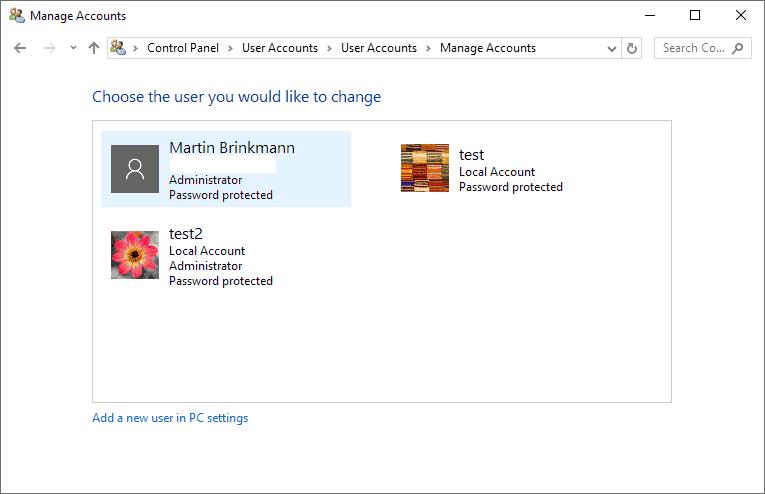 windows 10 admin