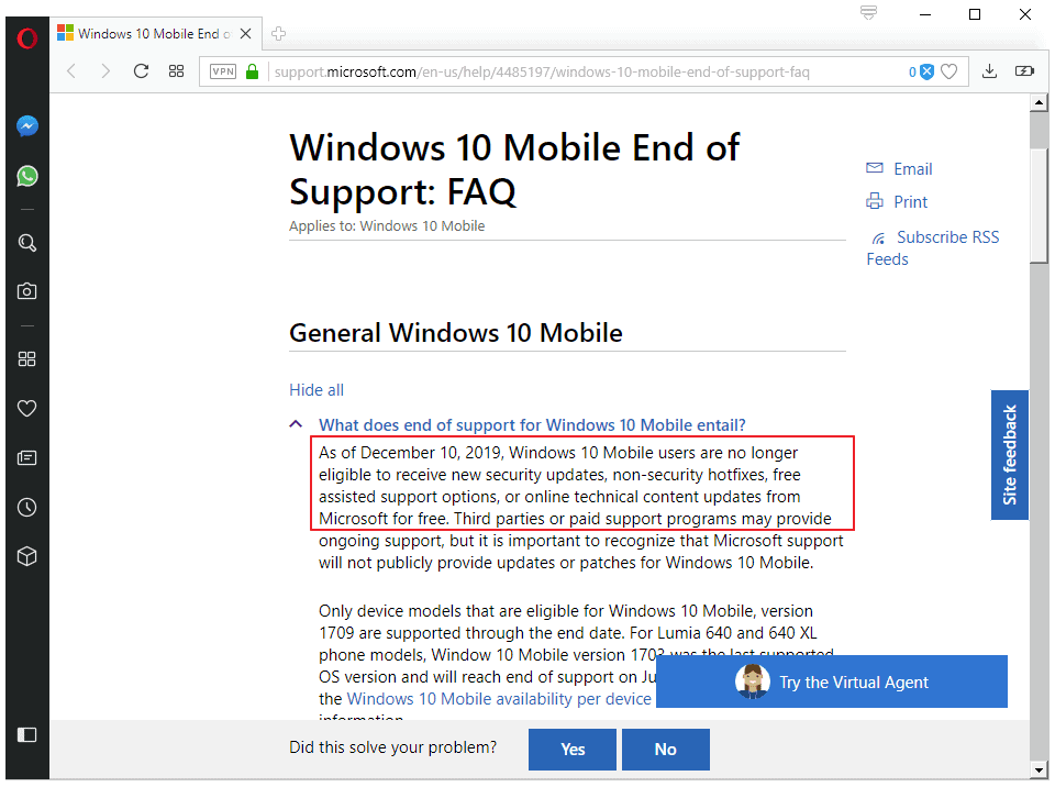 The end of Windows 10 Mobile: the facts