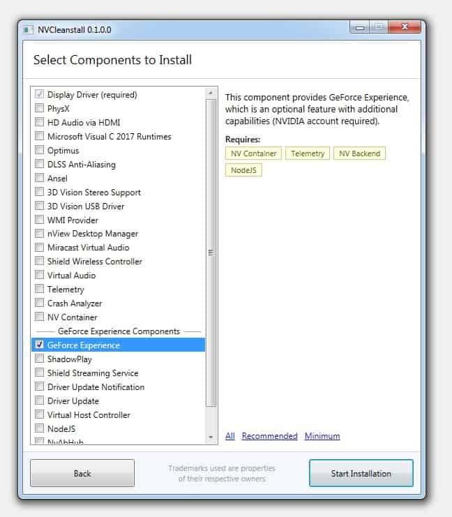 custom install nvidia