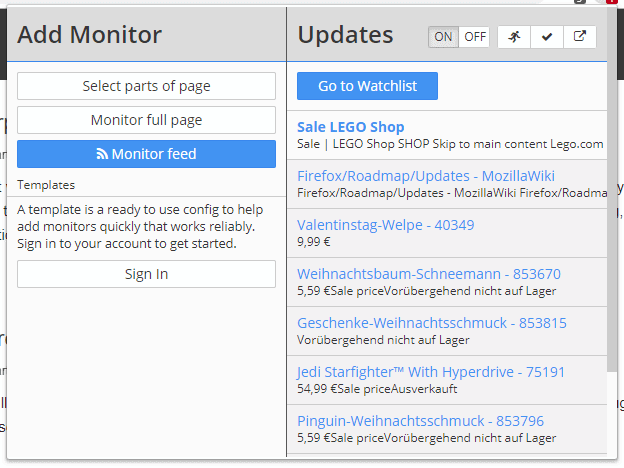 distill web monitor