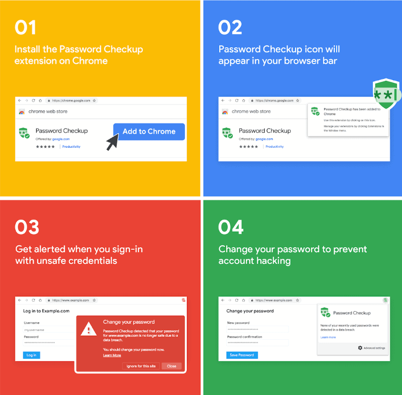 Google publishes Password Checkup extension for Chrome - gHacks Tech