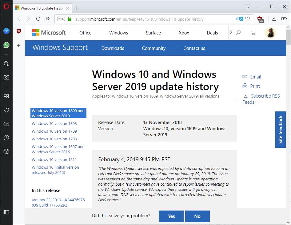 windows 10 dns issue