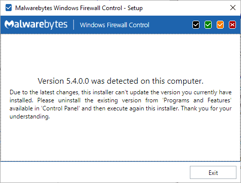 windows firewall control update