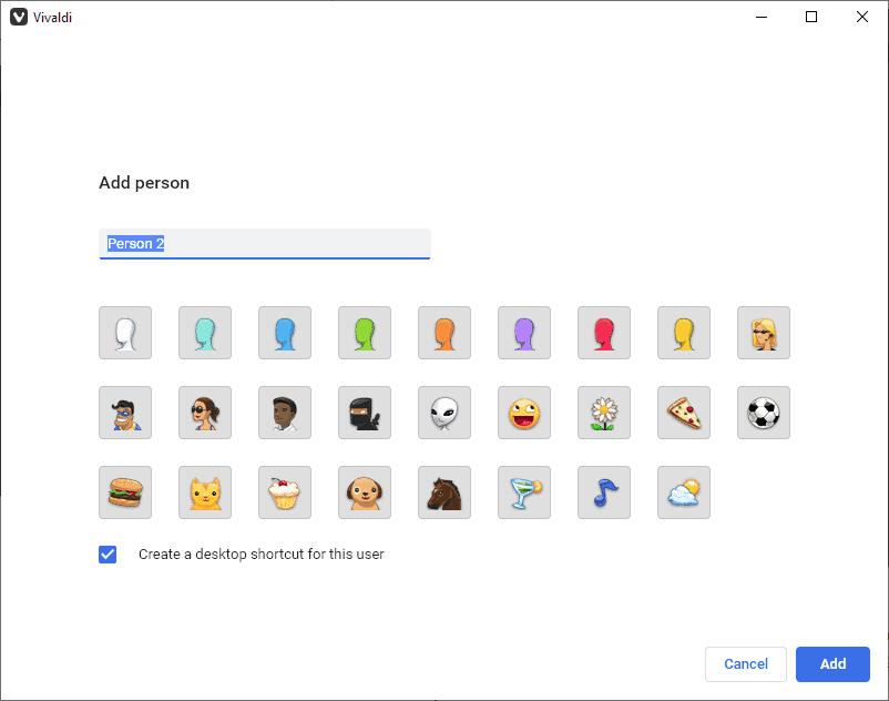 add user vivaldi