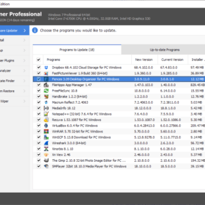 ccleaner professional software updater