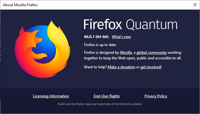 firefox 66.0.1 security update