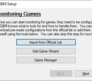 game backup monitor