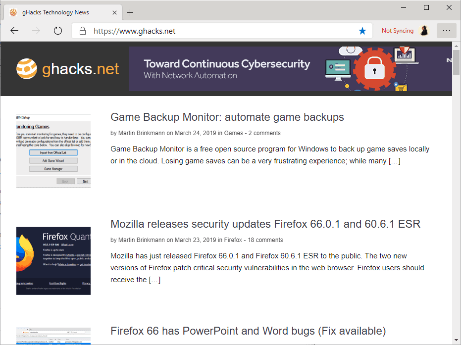 This is the Chromium-based Microsoft Edge browser - gHacks