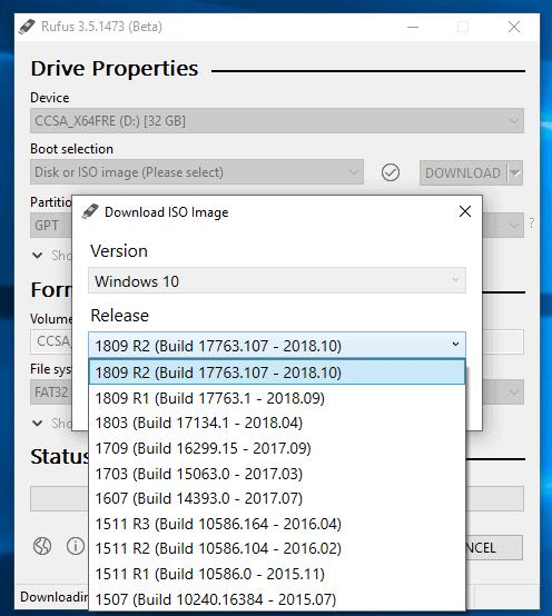 rufus download windows