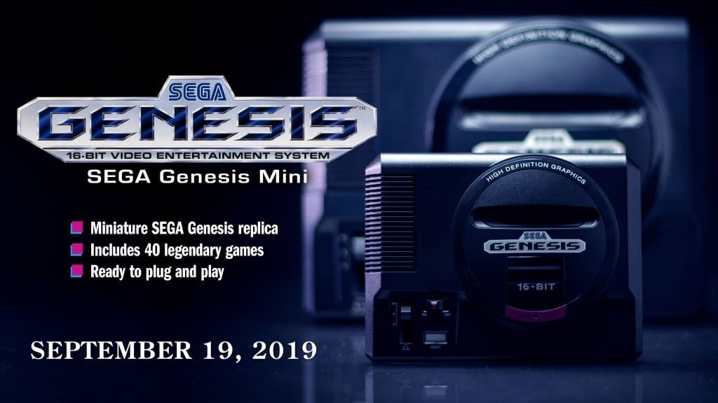 Sega Genesis Mini (Mega Drive) release in September 2019
