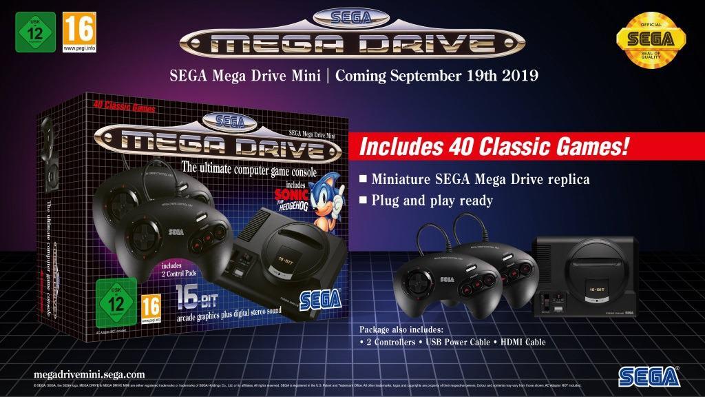 Sega Genesis Mini Mega Drive Release In September 2019