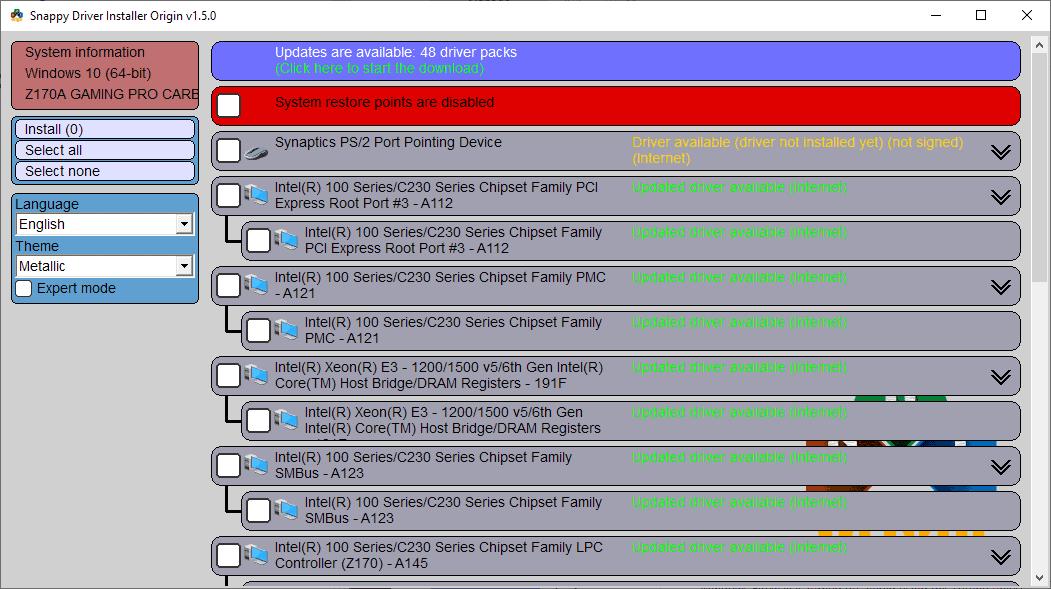 snappy drivers installer origin