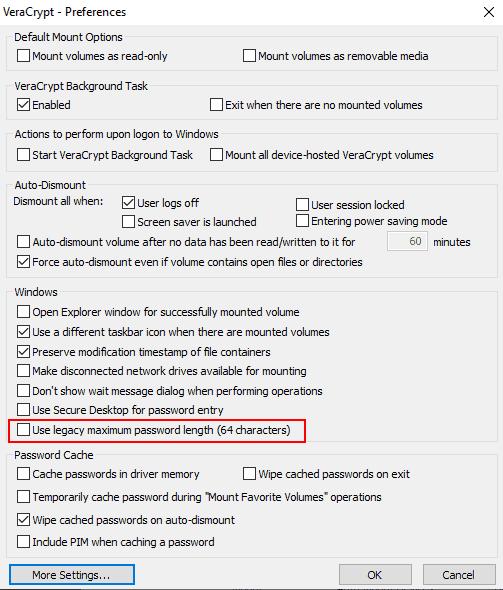 veracrypt legacy password