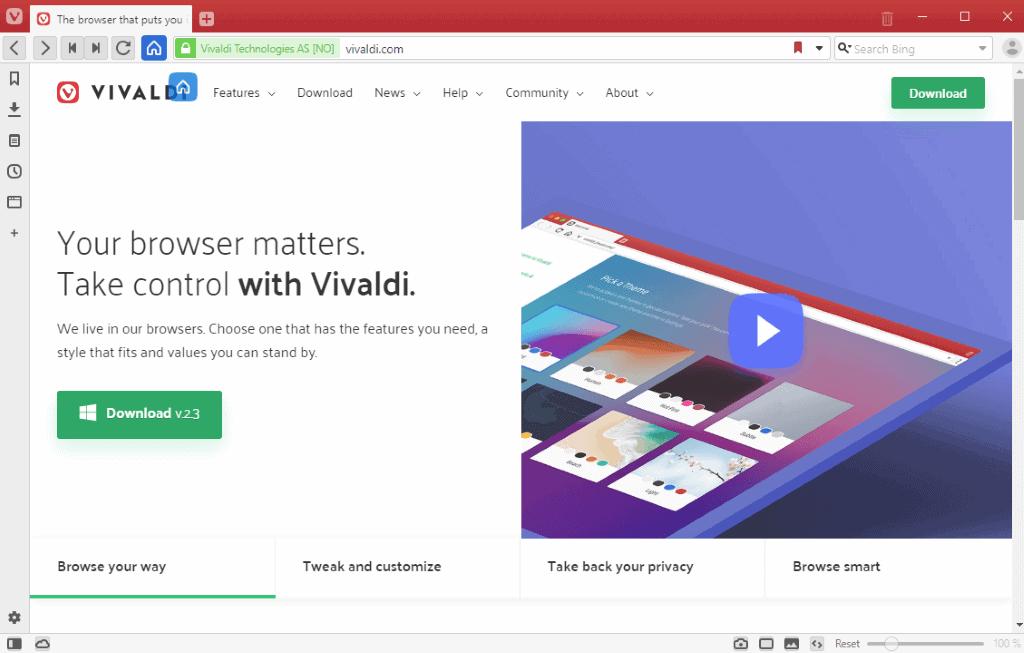 vivaldi drag toolbar icons