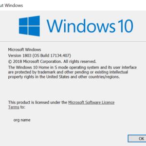 windows 10 home s mode